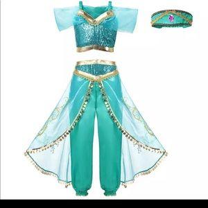 FINAL DROP Girls Dress Up Princess Jasmine Costume